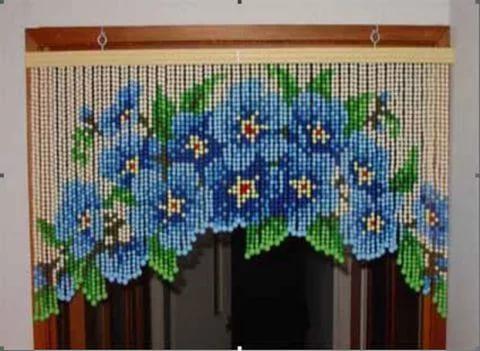 Как сделать шторы из бисер