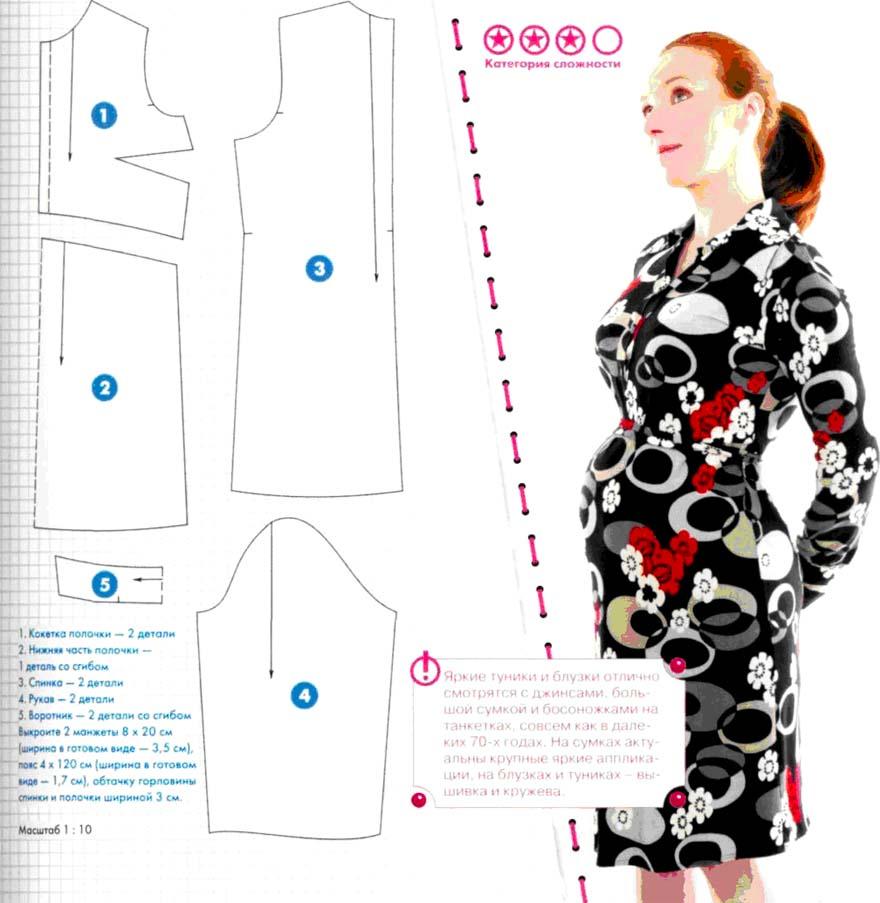 Готовая выкройка платья на беременных