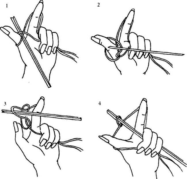 Как набирать петли на спицах для вязания  567