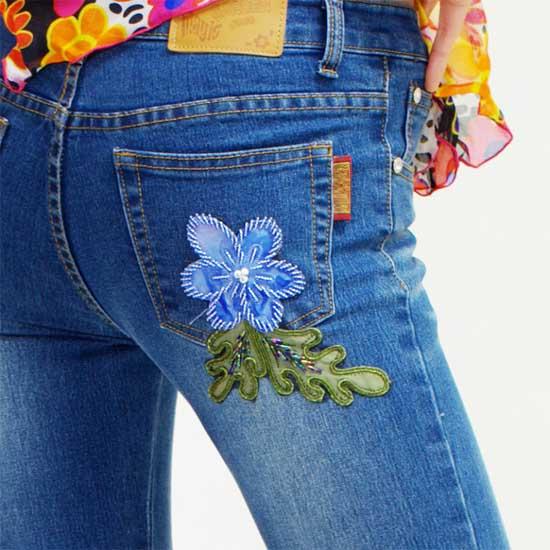 Как сделать вышивку на джинсы 53